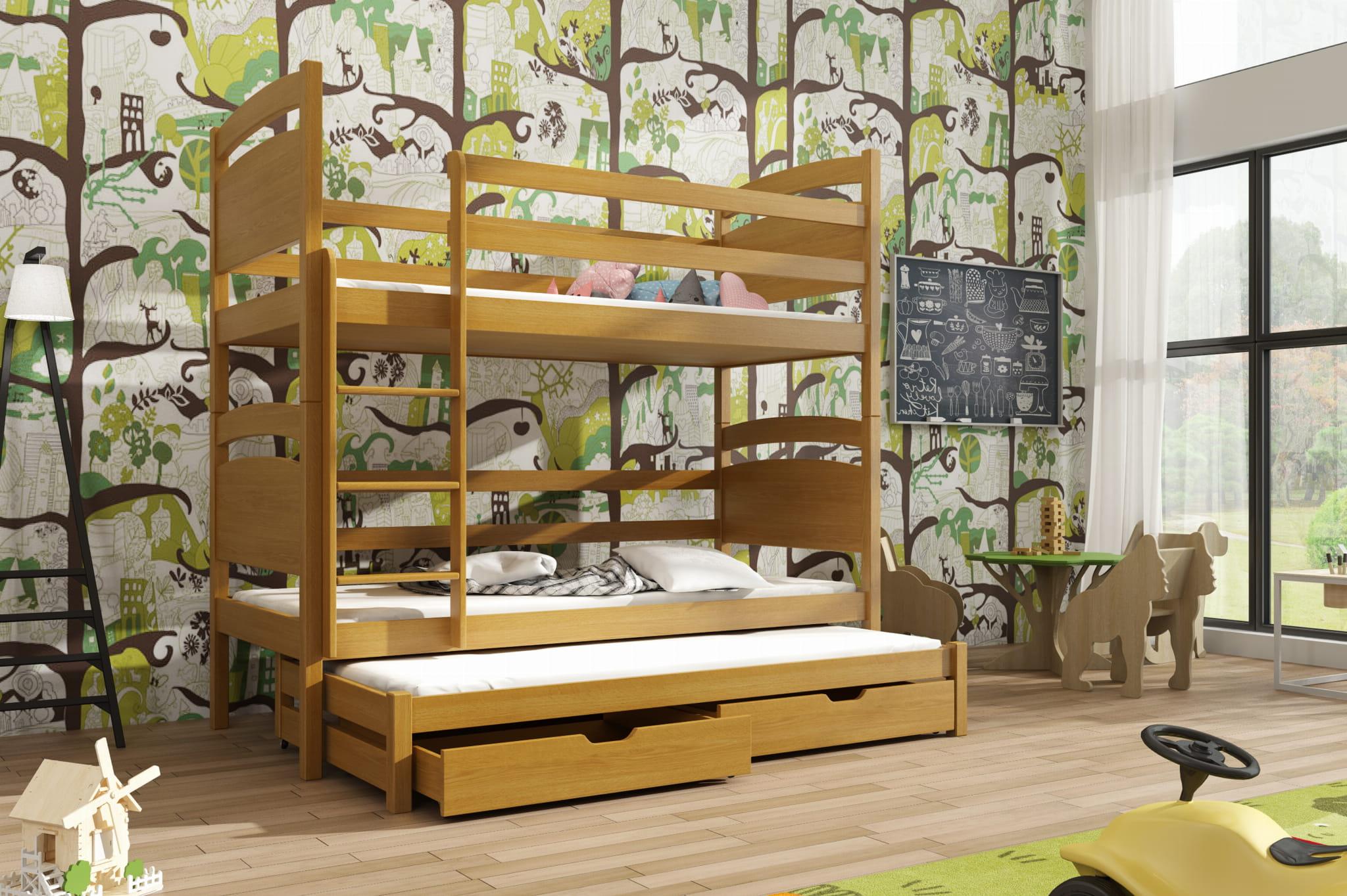 łóżko Piętrowe Trzyosobowe Dyzio Meblegratka