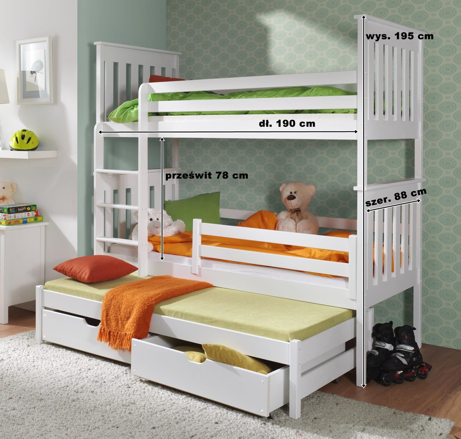 łóżko Piętrowe Trzyosobowe Reksio Meblegratka