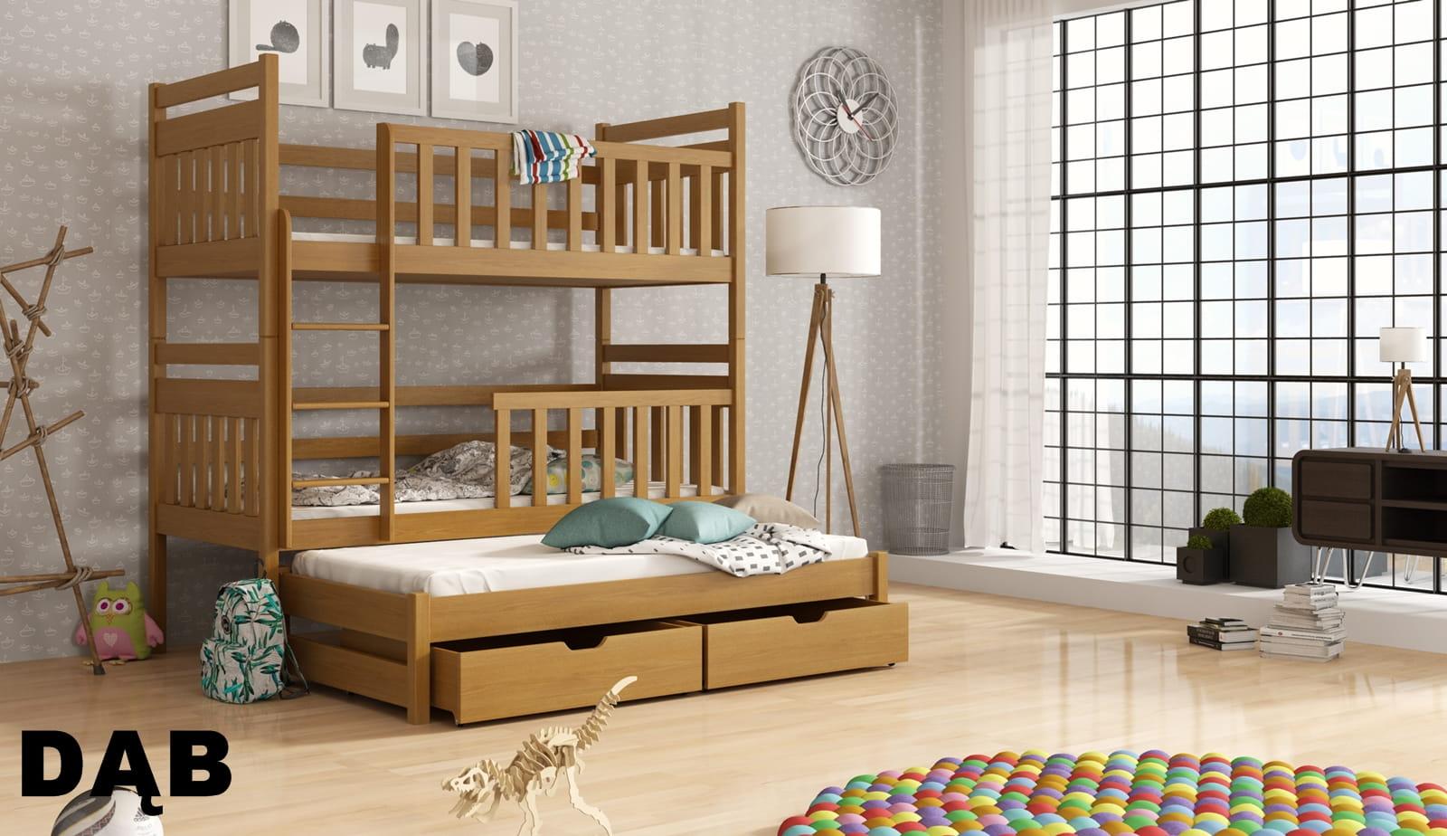 łóżko Piętrowe Trzyosobowe Klewra Meblegratka
