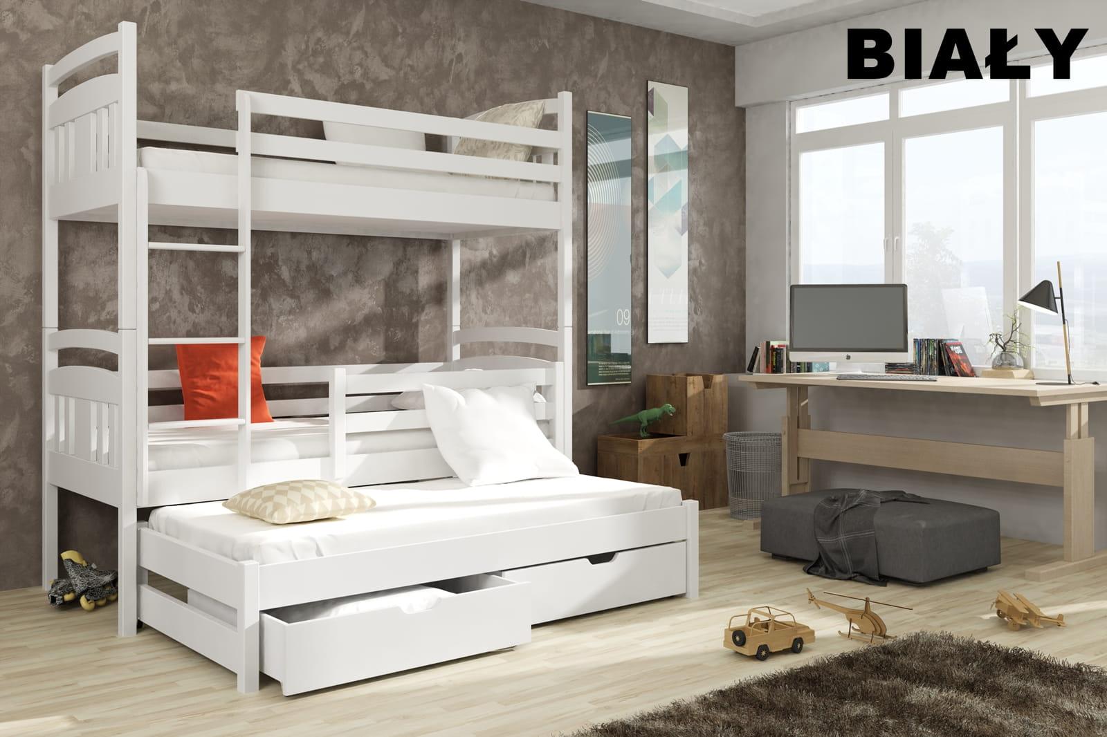 łóżko Piętrowe Trzyosobowe Elmo Meblegratka