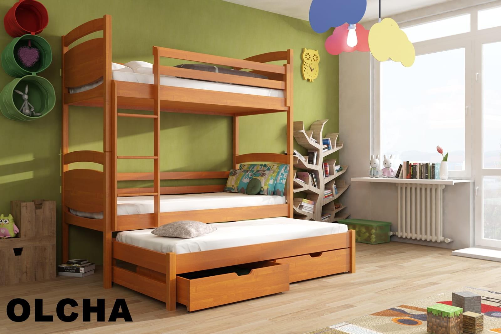 łóżko Piętrowe Trzyosobowe Wojtek Meblegratka
